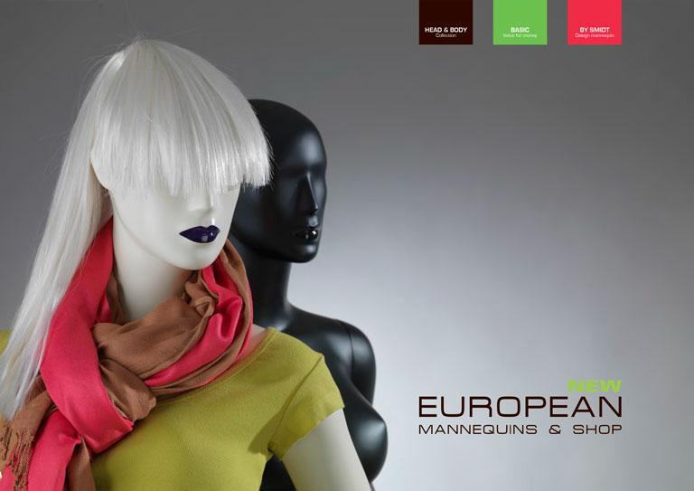 Forside til European Mannequins' katalog