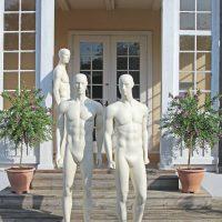 herre mannequiner med et meget moderne udtryk