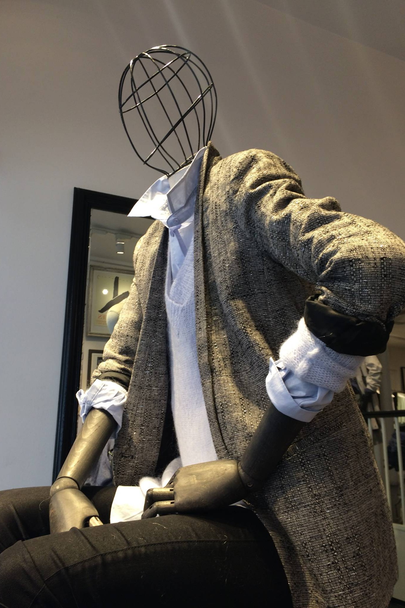 articulated mannequins with Wire head