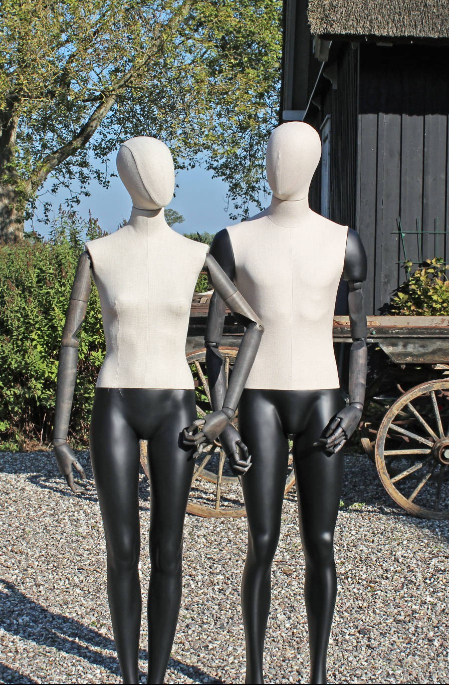 articulated female and male mannequins