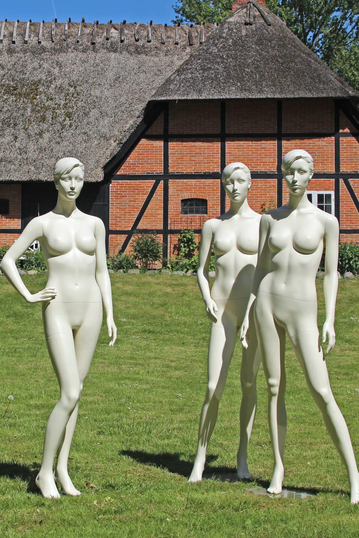 dame mannequin med aftageligt hoved i flere modeller