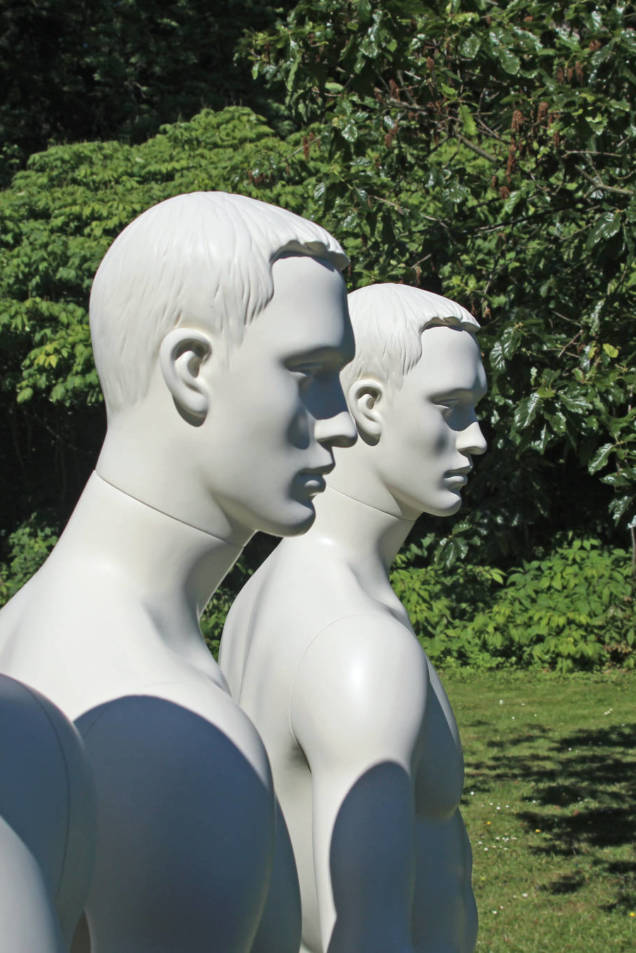 Stylized mannequins in nature
