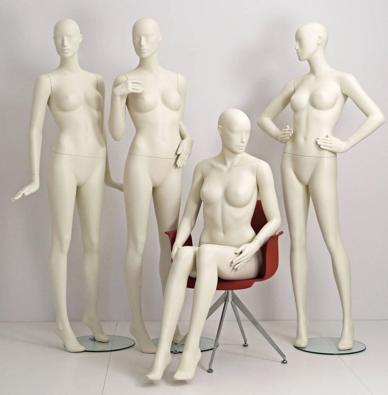 Design mannequin i 9 forskellige positioner som kan leveres i alle farver direkte fra lager. Mannequindukker