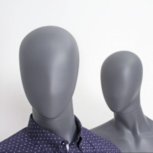 Moon head faceless mannequin. Utrolig lækker herre mannequin i flot grå farve. Lagerførende og hurtig levering i alle farver. Konkurrencedygtige priser