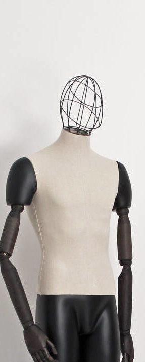 Trådhovede til vintage mannequin