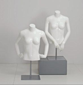 dame torso kort model med arme