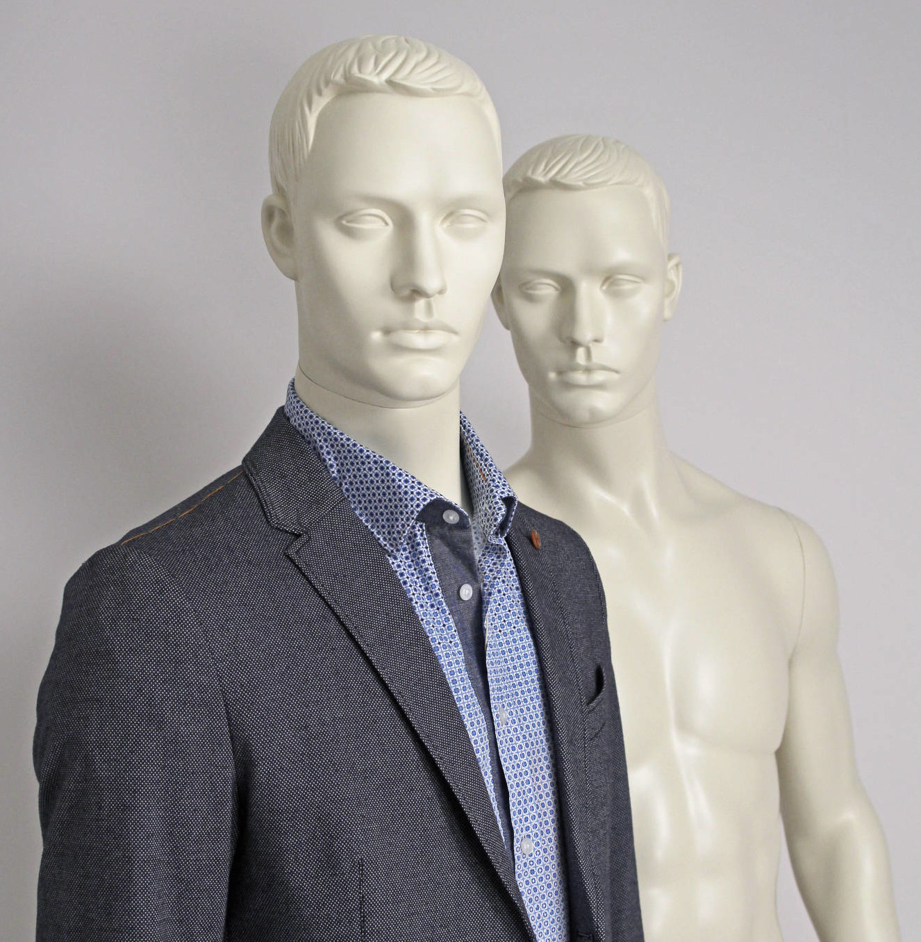 Stylistic male mannequins Hugo