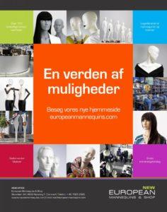 Ny hjemmeside med skandinaviens bredeste sortiment af lagerførende mannequiner