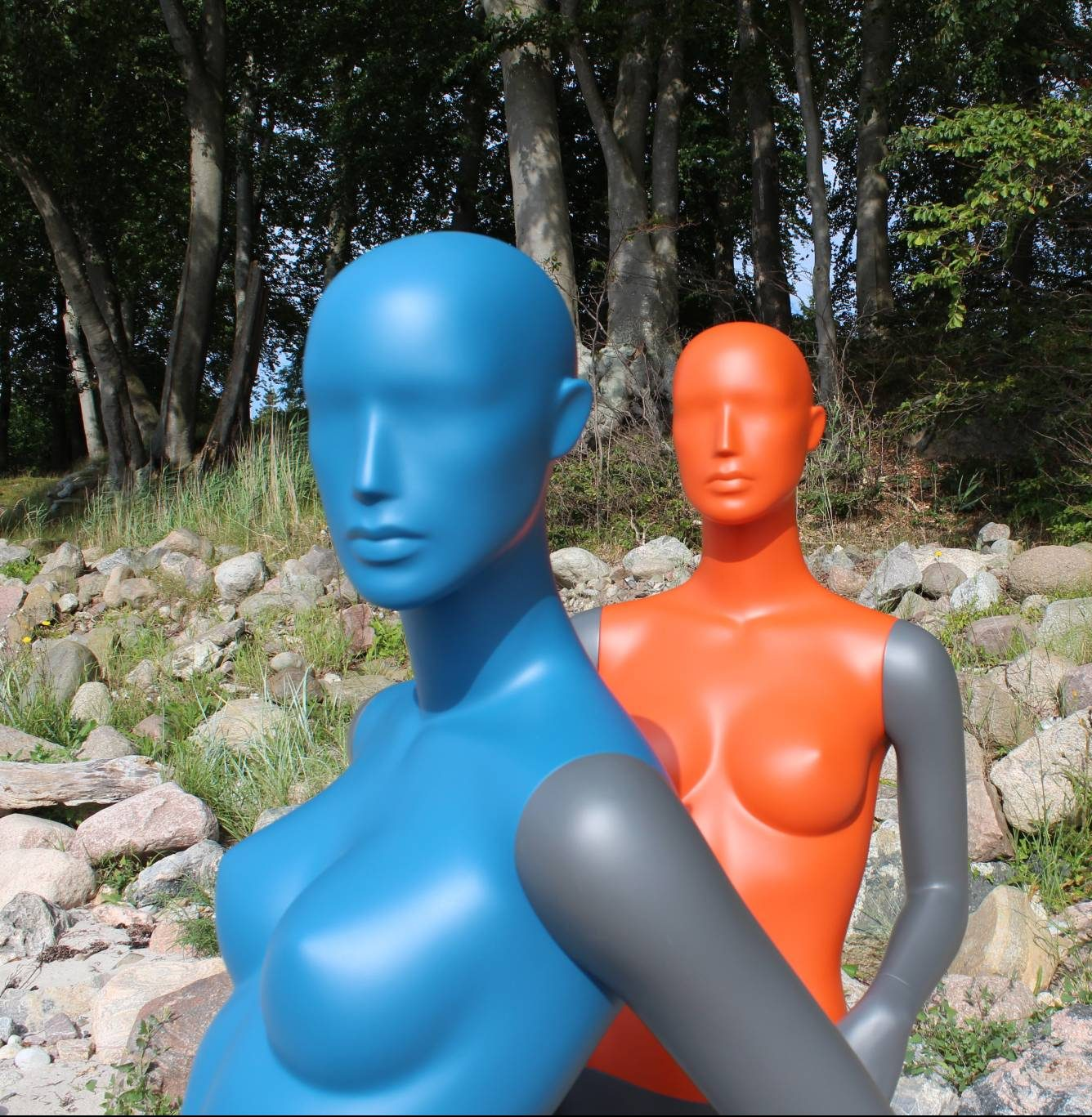 Colourful mannequins is beautiful and nice looking