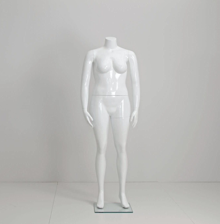 Plus size mannequins i hvid højglans.