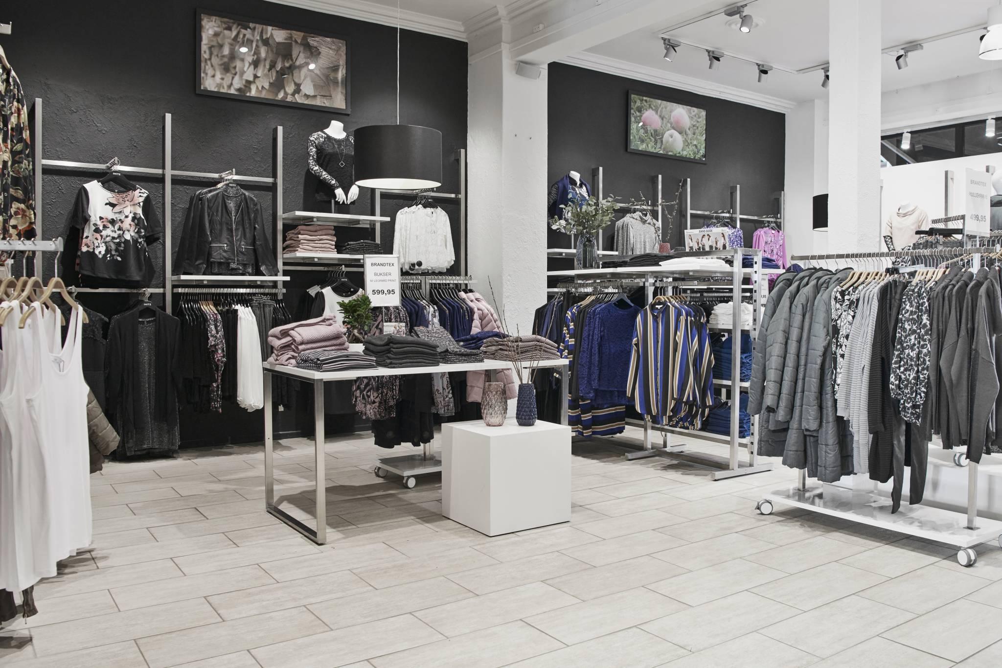 Billig butiksindretning kan bruges i flotte modebutikker