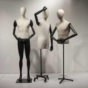 Vintage mannequiner og vintage torsoer.