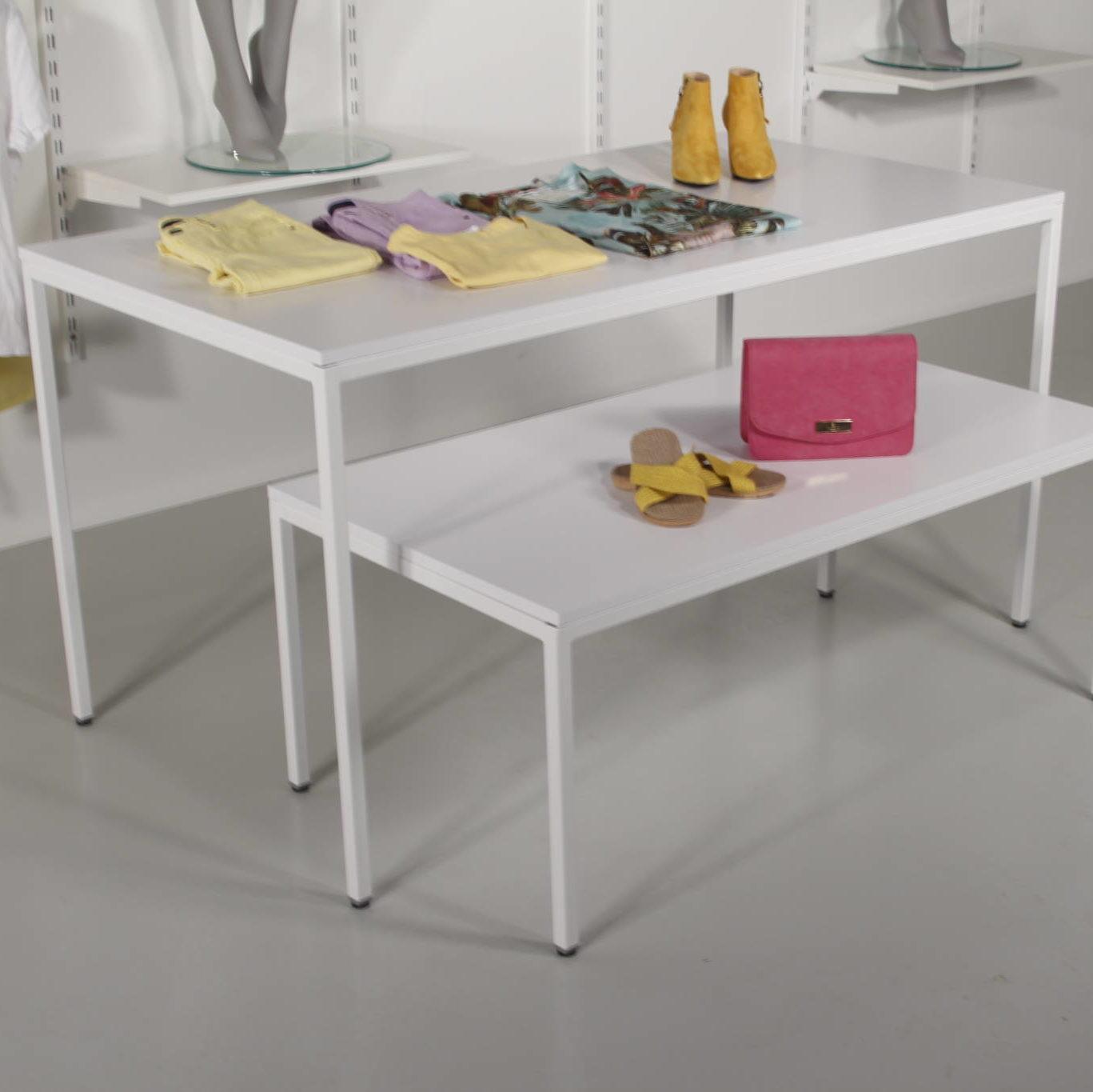 hvide billige salgsborde. indskudsborde