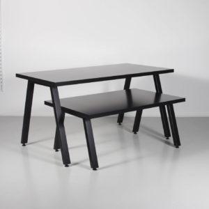Salgsbord i sort eller hvid