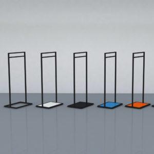 Sort tøjstativ - vælg din konceptfarve på bundpladen
