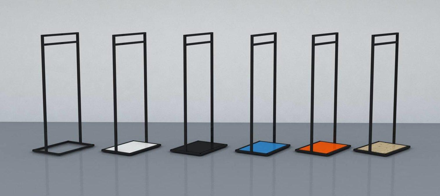 Lækkert garderobe tøj stativ hvor du kan vælge din egen konceptfarve på bundpladen