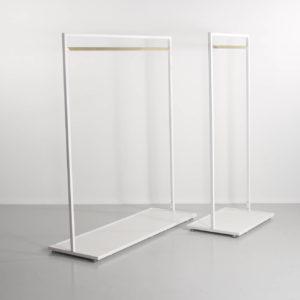 Design stativ i messing og hvid