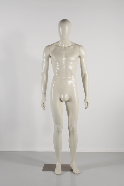 herre mannequin i ivory plast