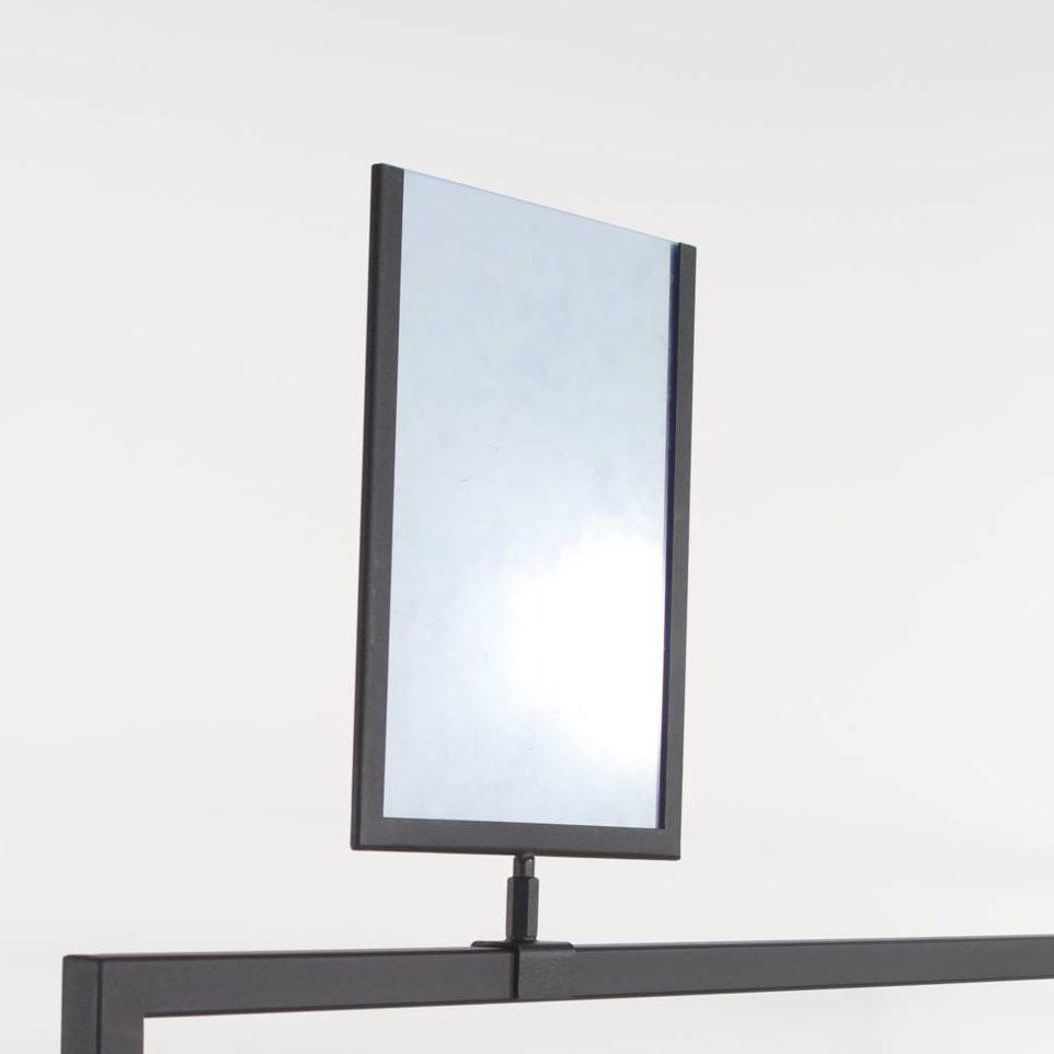 Sort skilteholder med akryl i A4