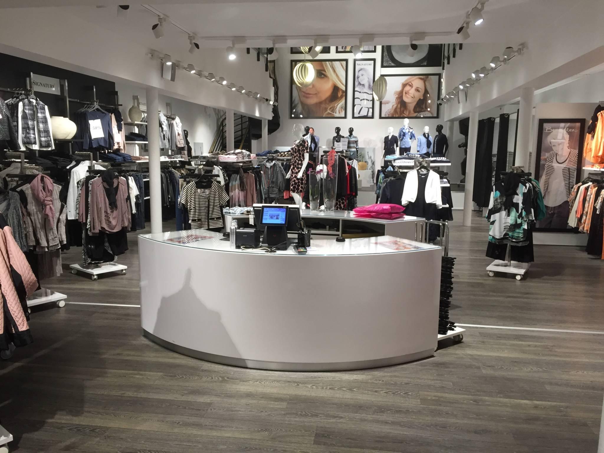 butiksdisk med buet form