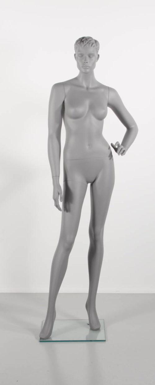 dame mannequin grå