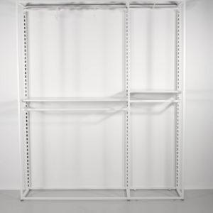 Moderne hvid reol til butik