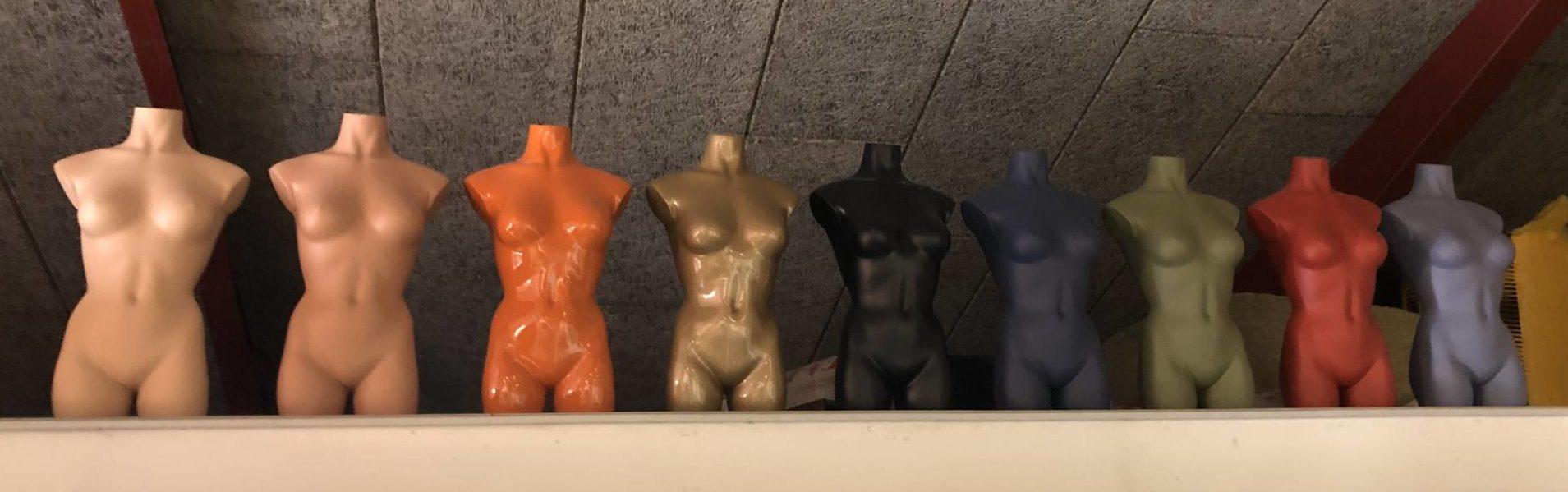 Mannequin farver - lille udsnit af farver