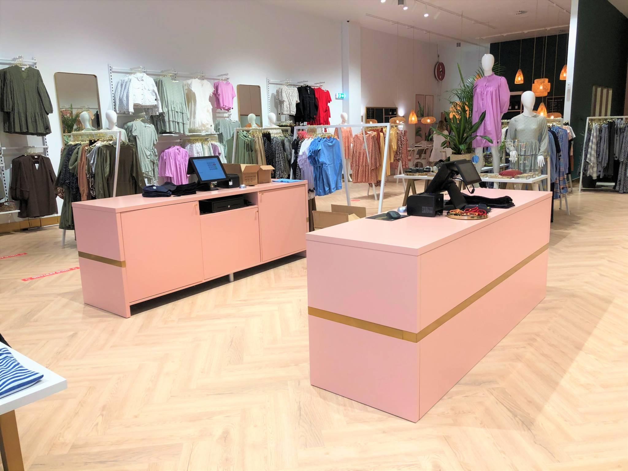 Ny butik med flotte konceptfarver