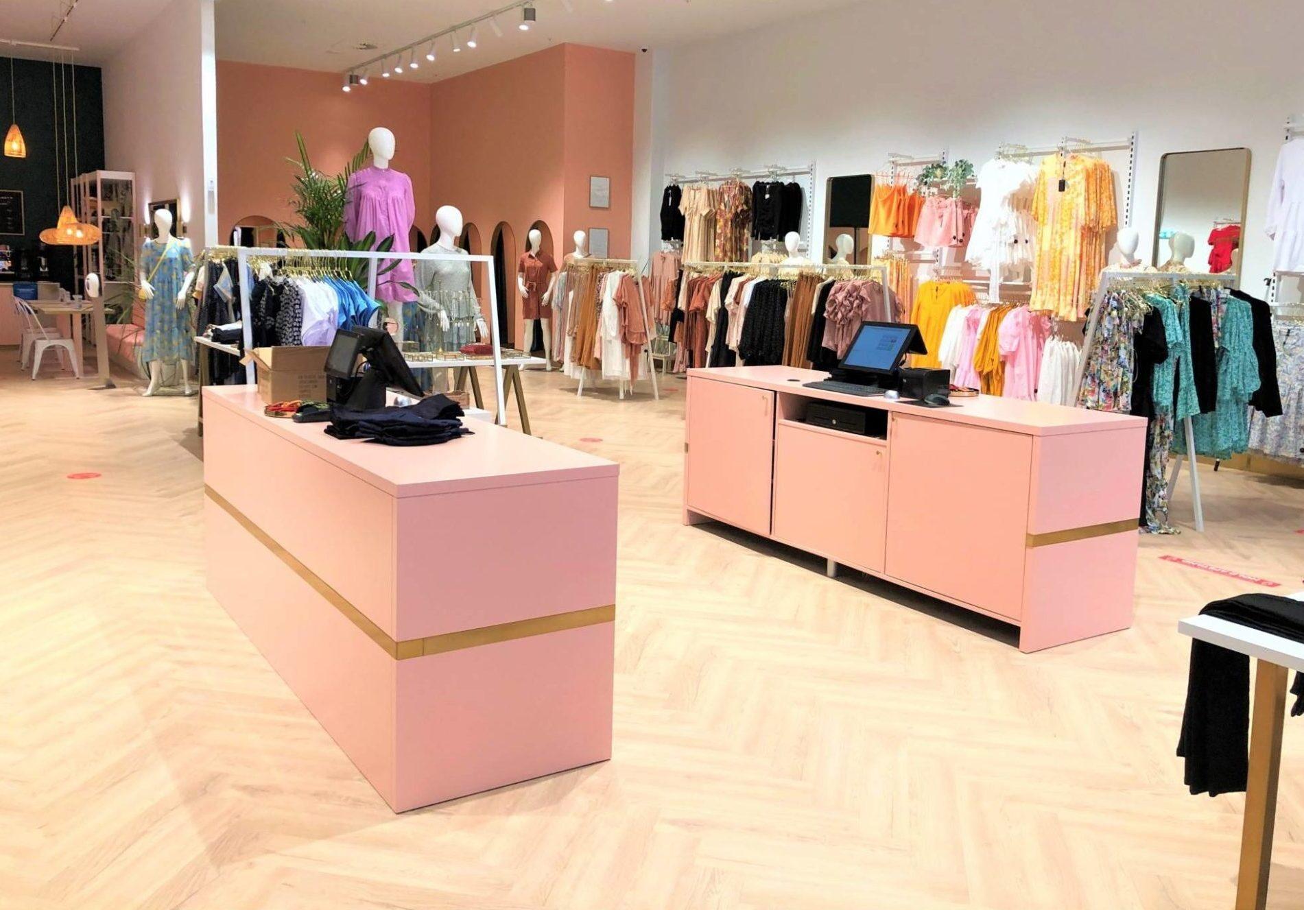 Design diske til nye tøjbutikker