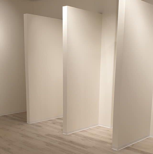 Prøverums vægge