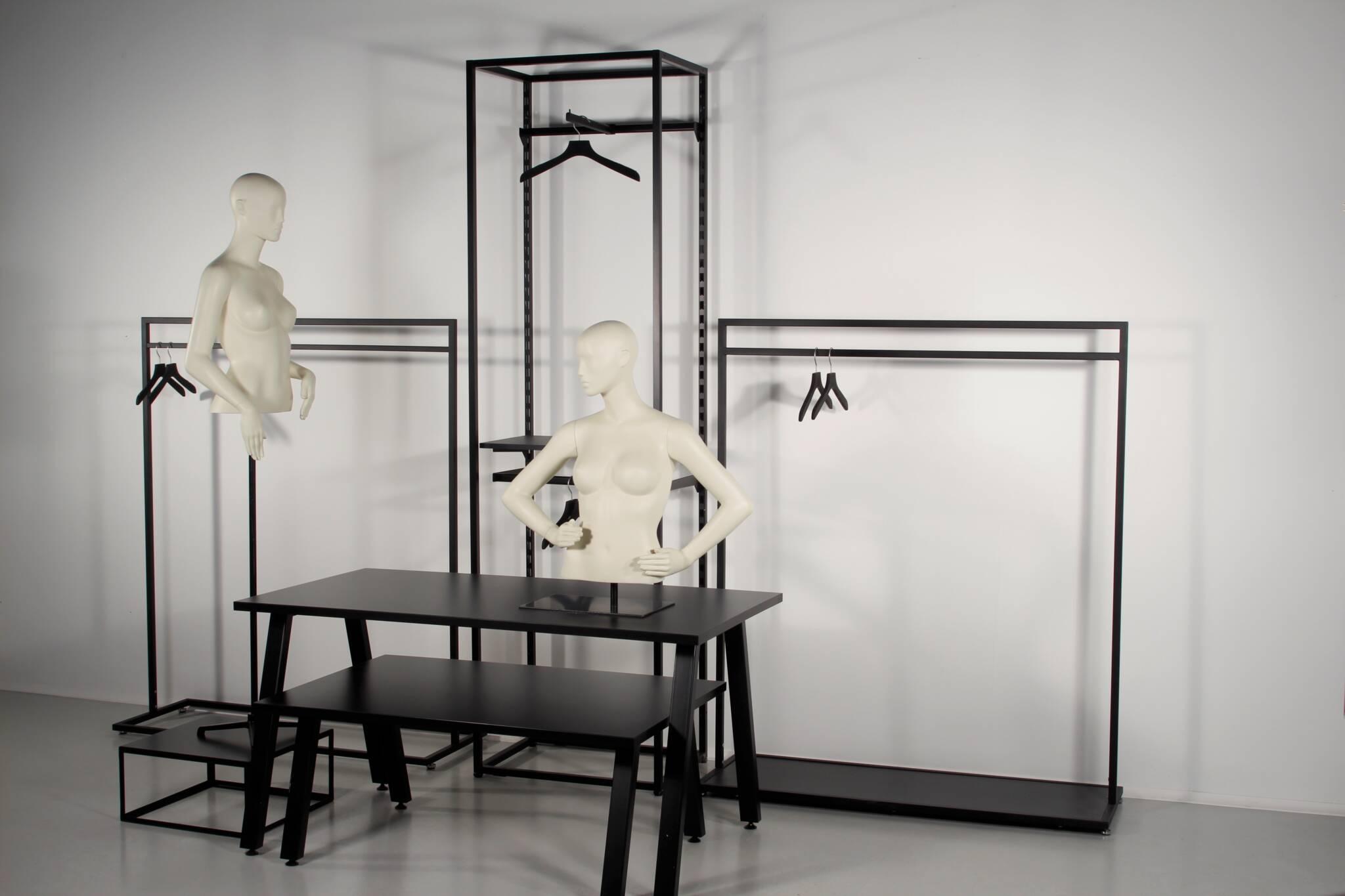 Shop inventar vist med torsoer