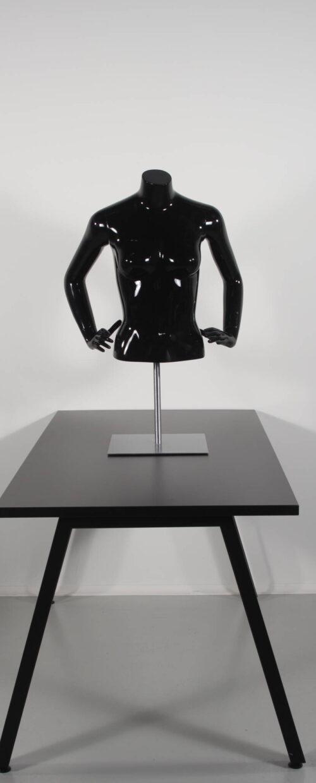 Flot dame torso kort model. sort højglans. Høj kvalitet til billig penge