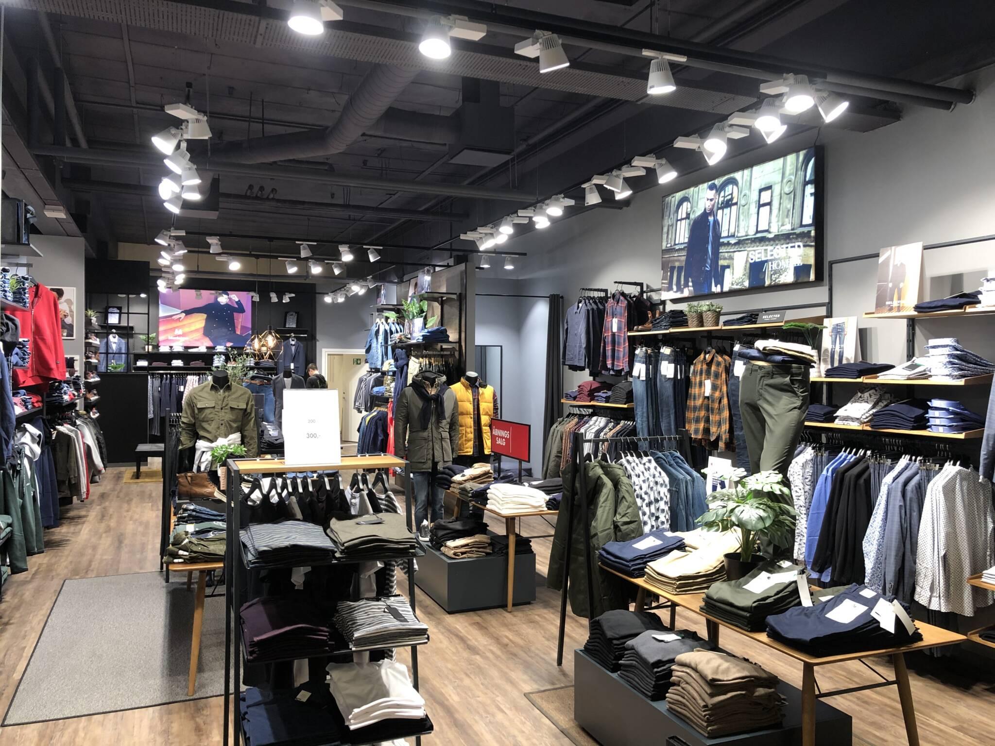 Flot butik med ny indretning
