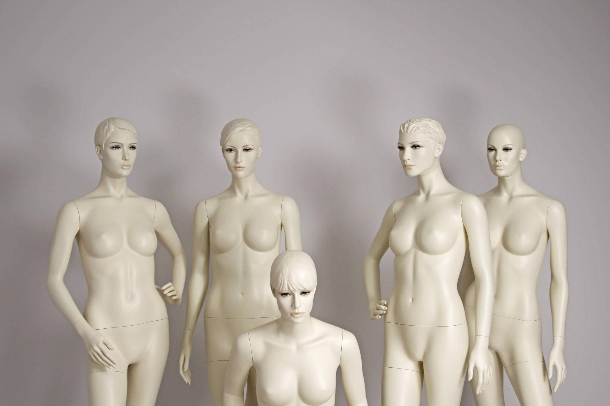 mannequiner med makeup