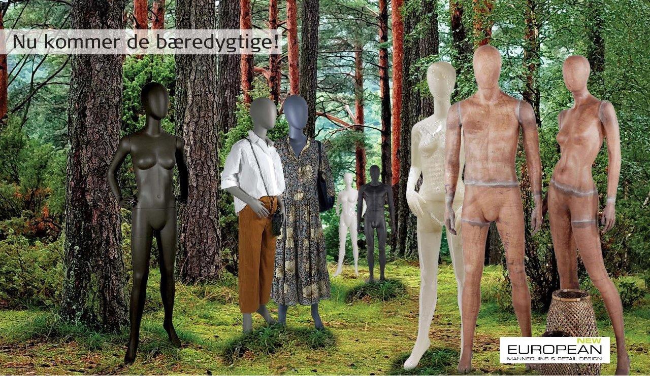 Bæredygtige manneqruiner fra European Mannequins & Retail Design