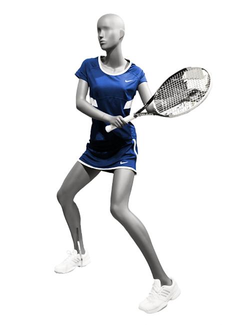tennis spiller dame mannequin. sports mannequin