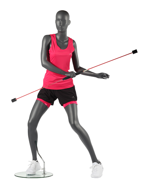Gymnastik position. Dame sports mannequin