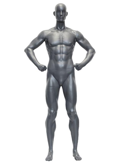 Muskuløs herre mannequin - større end normale mannequiner