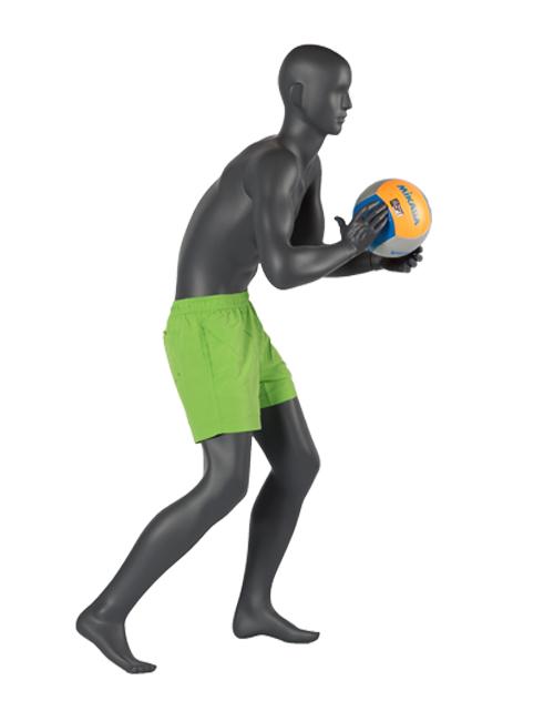 Sportsmannequin med volleyball