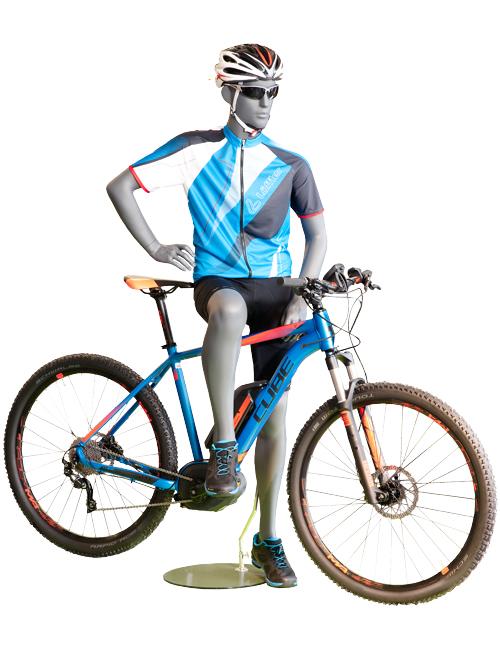 Mountainbike cykelrytter. Sportsmannequin