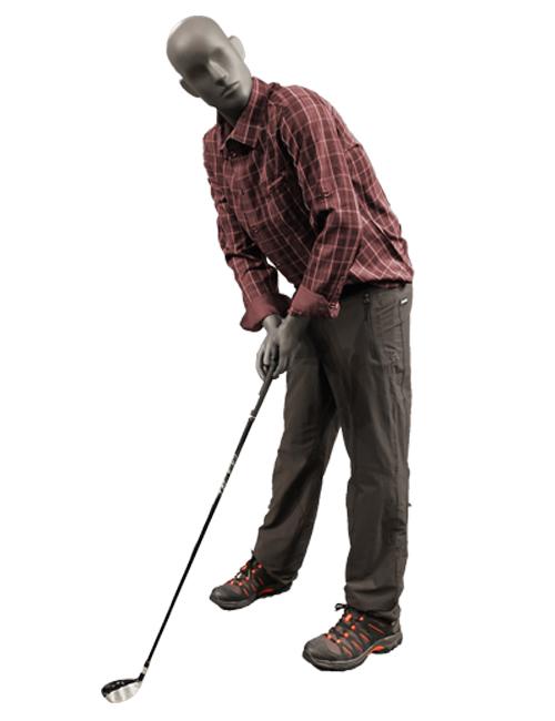 Golfspiller sportsmannequin.