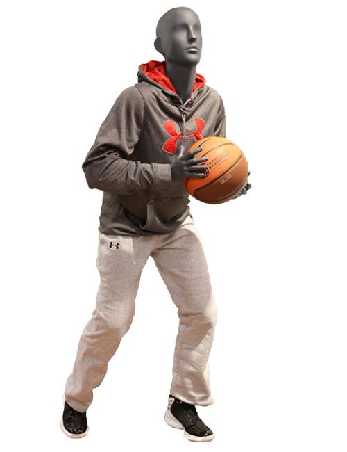 Basketball spiller. Sportsmannequin er vist med sportstøj