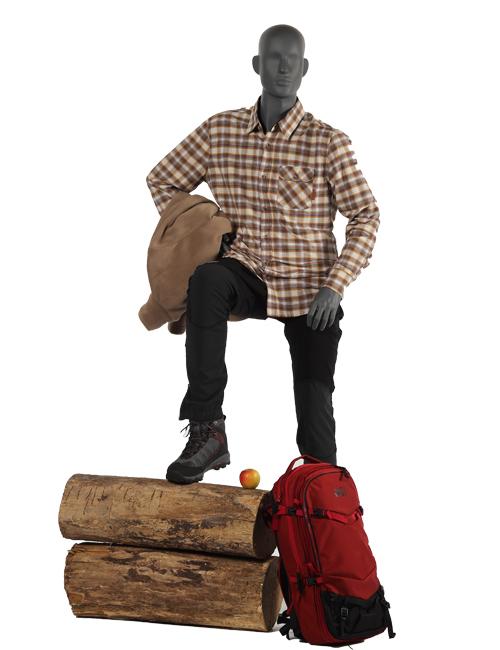 Mannequin på vandretur, sportsmannequin
