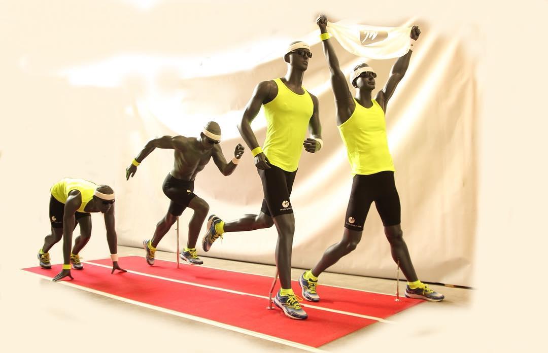 Sportsmannequiner på løbebanen