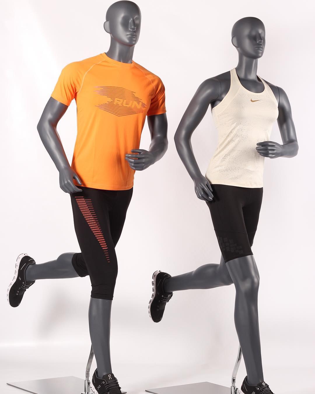 Løbende sports mannequiner